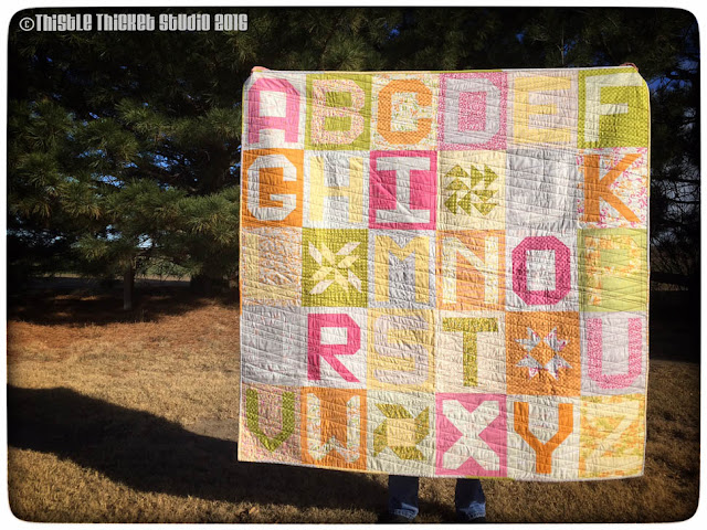 Thistle Thicket Studio, Spell It With Moda, Sunkissed fabric, abc quilt