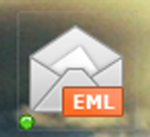 A desktop icon shaped like an envelope with EML written on it.