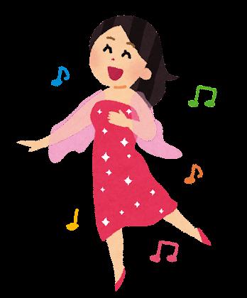 ミュージカルのダンサーのイラスト(女性)