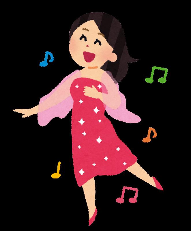 ミュージカルのダンサーのイラスト女性 かわいいフリー素材集