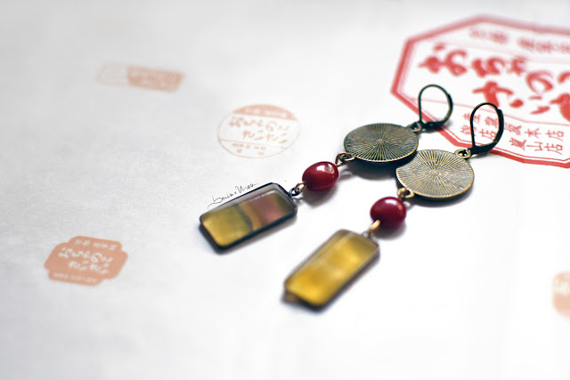 orecchini pendenti beads & wires Japan