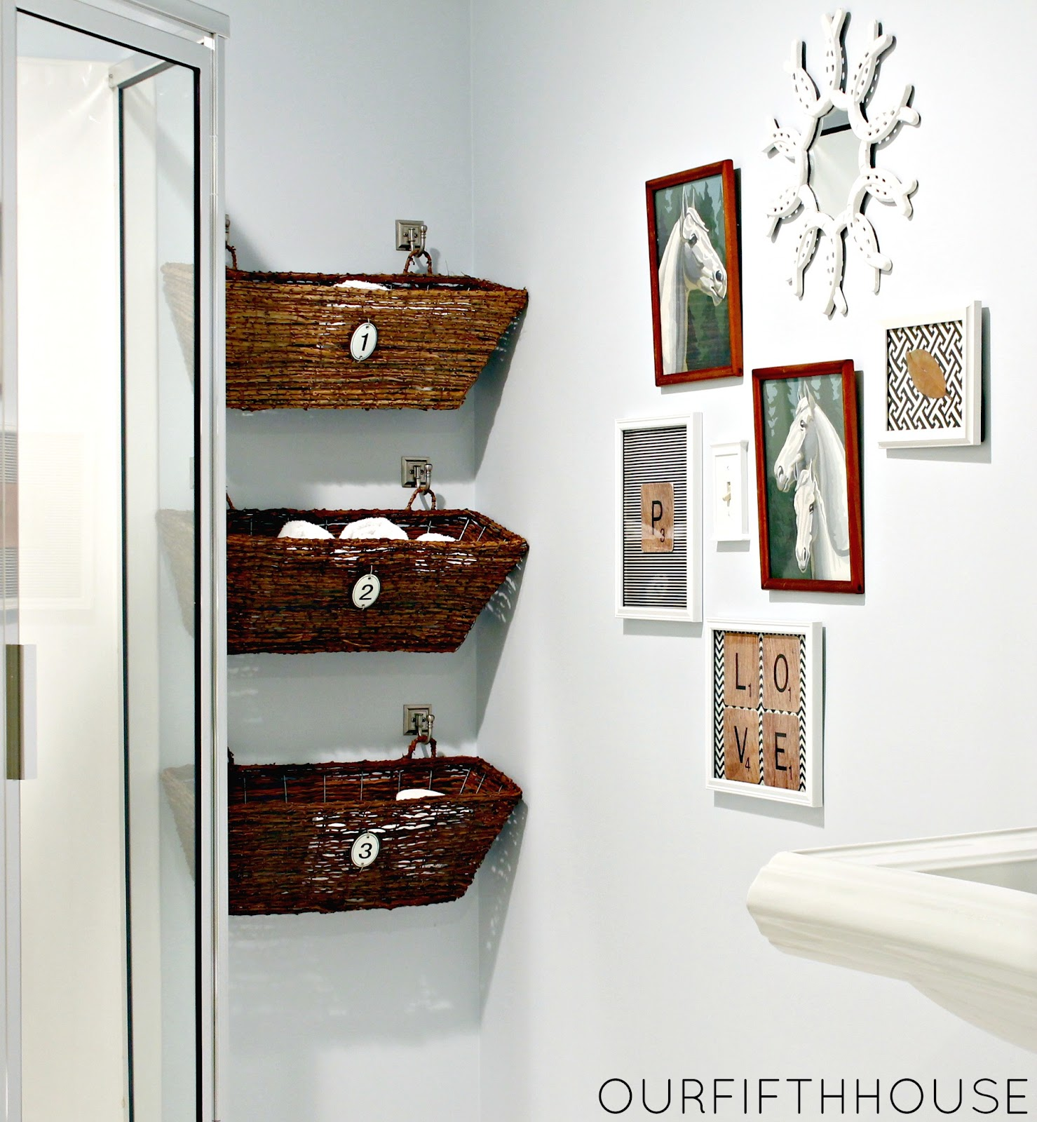 Bathroom wall storage baskets - Creating Storage In A Small Bathroom