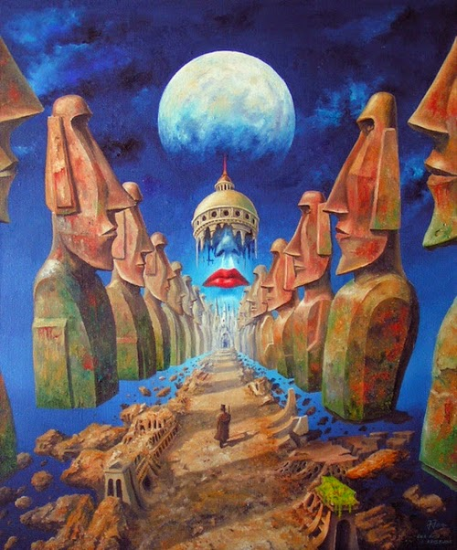 20-Jarosław-Jaśnikowski-Surreal-Paintings-of-Fantastic-Realism-www-designstack-co
