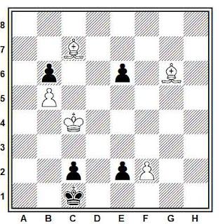 Estudio artístico de ajedrez compuesto por Leonid I. Kubbel  (1º Premio, Schachmaty 1924)