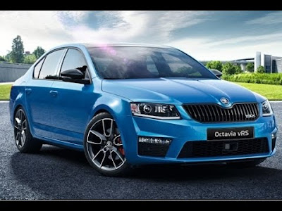 New 2017 Skoda Octavia vRS Blue color Hd Photos  01
