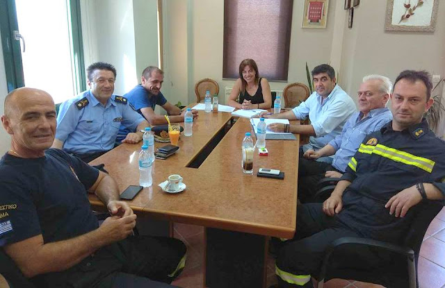 Συνάντηση Μπραΐμη με τον διοικητή της περιφερειακής διοίκησης Ηπείρου της πυροσβεστικής