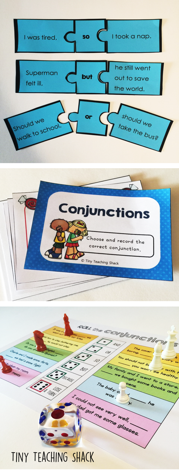 https://www.teacherspayteachers.com/Product/Conjunction-Center-Activities-so-but-and-or-becausefor-2475023