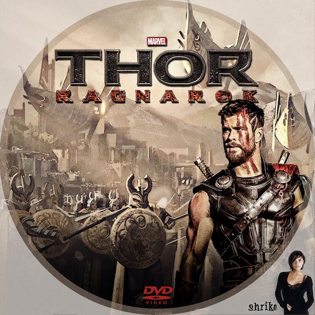 Label DVD Thor Ragnarok