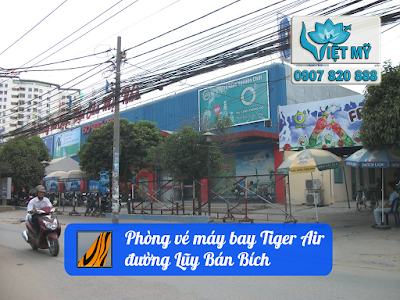 Mua vé máy bay Tiger Air gần đường Lũy Bán Bích quận Tân Phú
