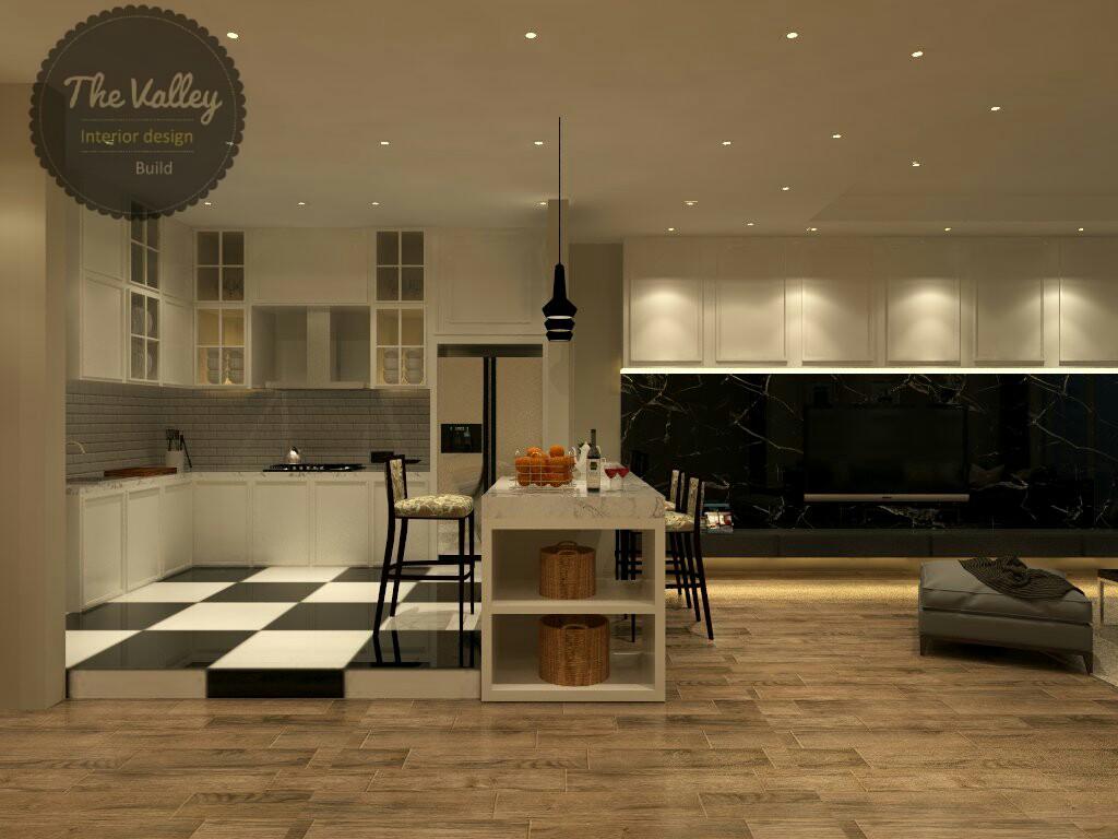Desain Interior Kitchen Set Mewah
