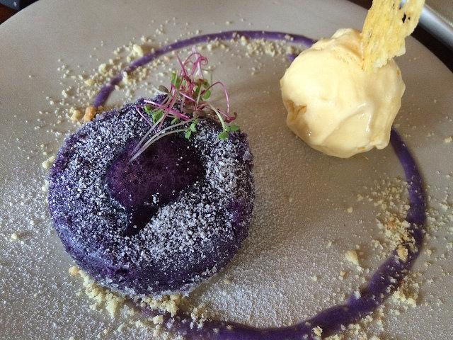 Purple Yam, Ube, Cum White Chocolate White Lava Cake