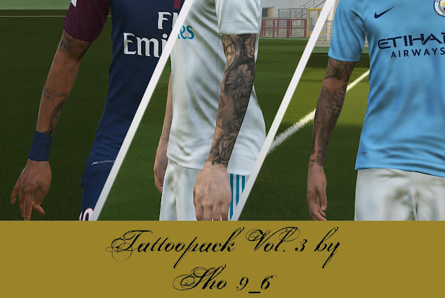 PES 2018 Tattoo Pack V3 dari Sho9_6