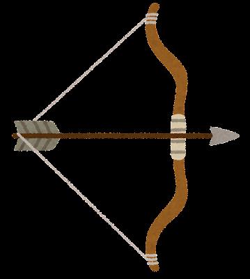 弓矢のイラスト