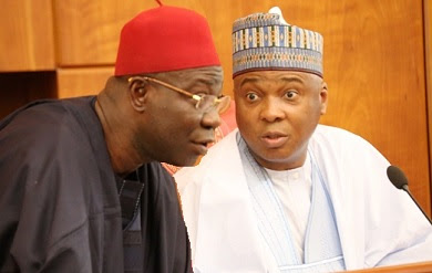 saraki and ekweremadu Aggrieved APC, PDP leaders begin merger talks