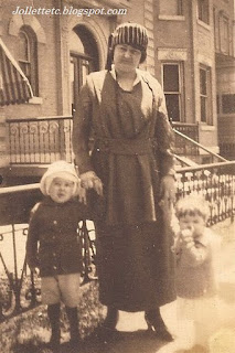 Josie with John Jr and Bob/Bobbie/Barbie 1920 http://jollettetc.blogspot.com