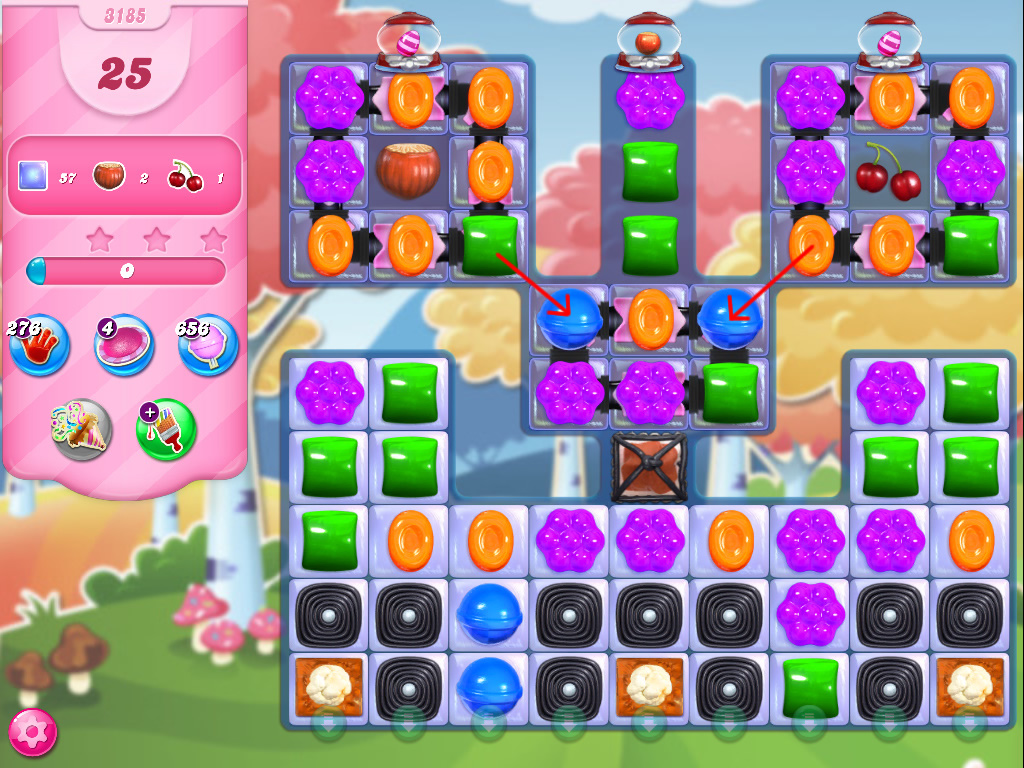Candy Crush Saga level 3185