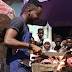 Talented Musician, Adekunle Gold turns to meat seller