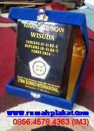 Box plakat Kayu, Boks Bludru Plakat, Souvenir kayu Kenang-Kenangan