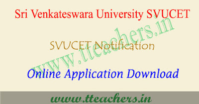 SVUCET 2019 online application form, svu pgcet apply online 2019