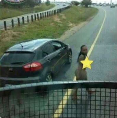 Alert! Robbers Now Use Stark N*ked Women to Hijack Cars in Broad Daylight...See Proof