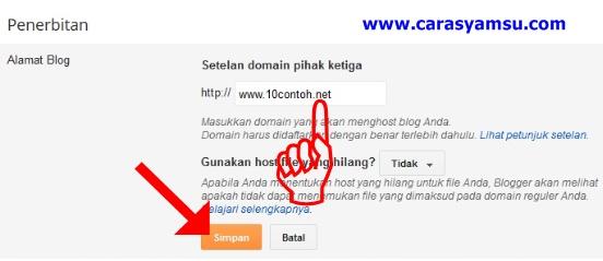 Cara mengganti domain blogspot menjadi net gratis