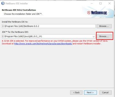 mengaitkan dengan java jdk agar instal netbeans bisa dilakukan di laptop anda