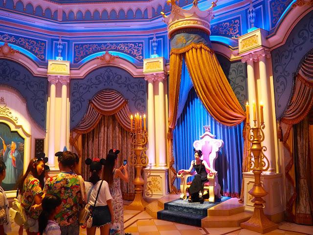 Cinderella Castle throne room, Tokyo Disneyland, Japan