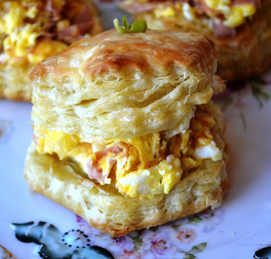 Tea Time Tuesday - Easy Individual Puff Pastry Egg Bakes
