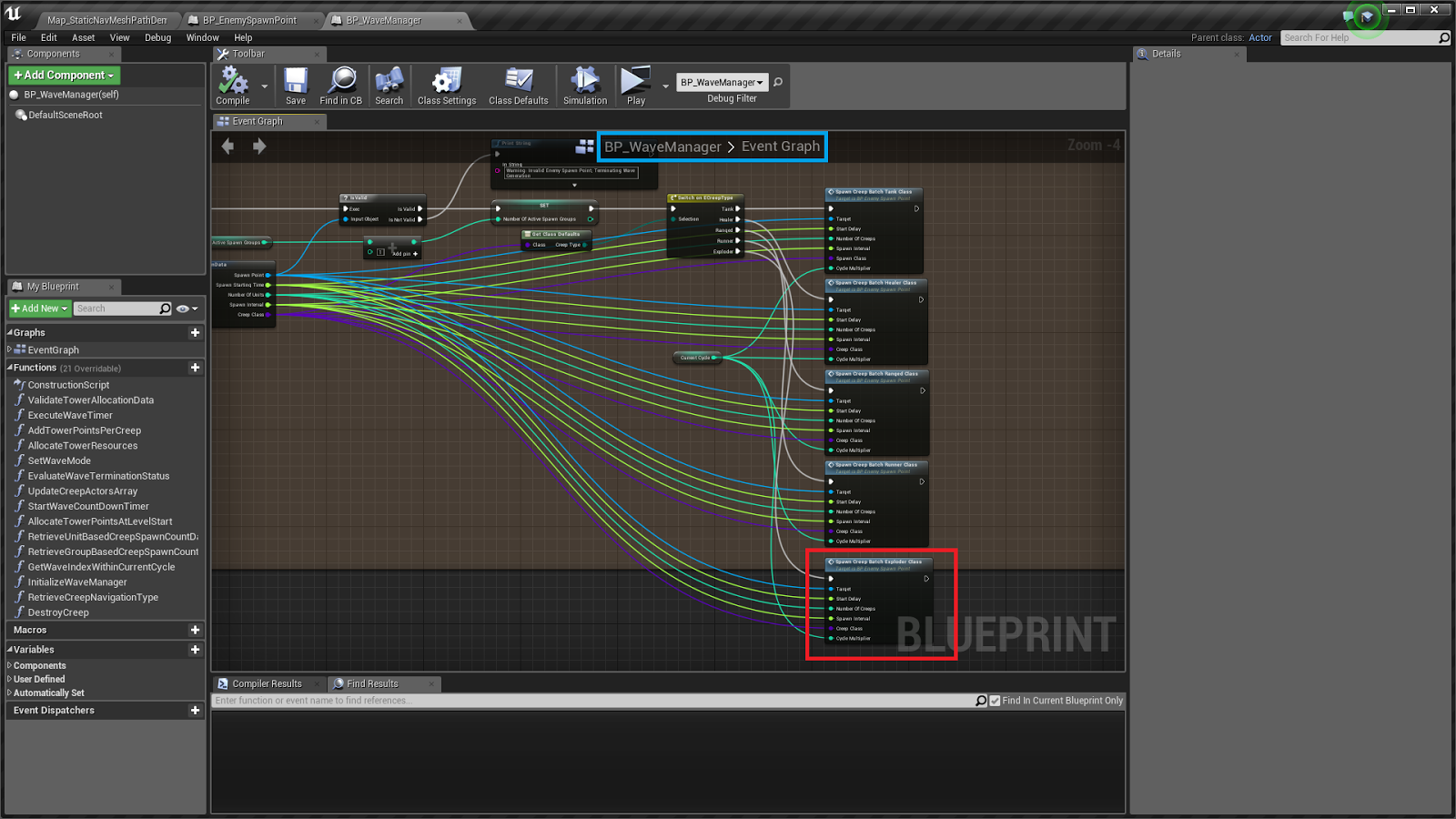 Unreal possibilities december 2016 so make the changes marked in red in the next screenshot within your wave manager blueprint malvernweather Image collections