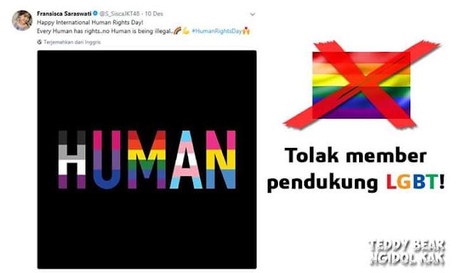 Member JKT48 Sisca Dukung LGBT