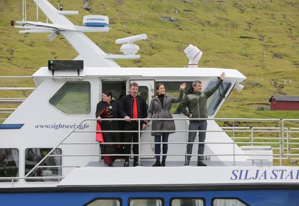 Crown Prince Frederik and Crown Princess Mary took part in a sailing tour to Haldórsvík