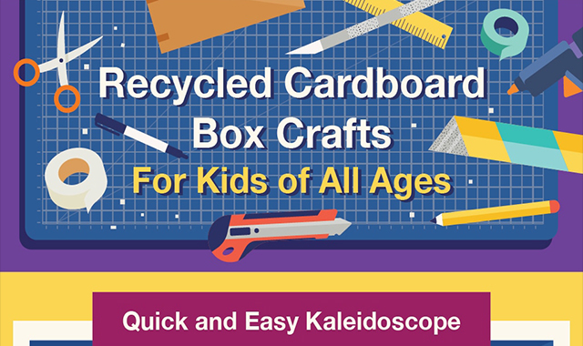 Recycled cardboard box crafts for kids of all ages
