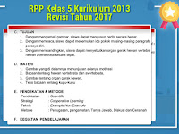 RPP Kelas 5 Kurikulum 2013 Revisi Tahun 2017