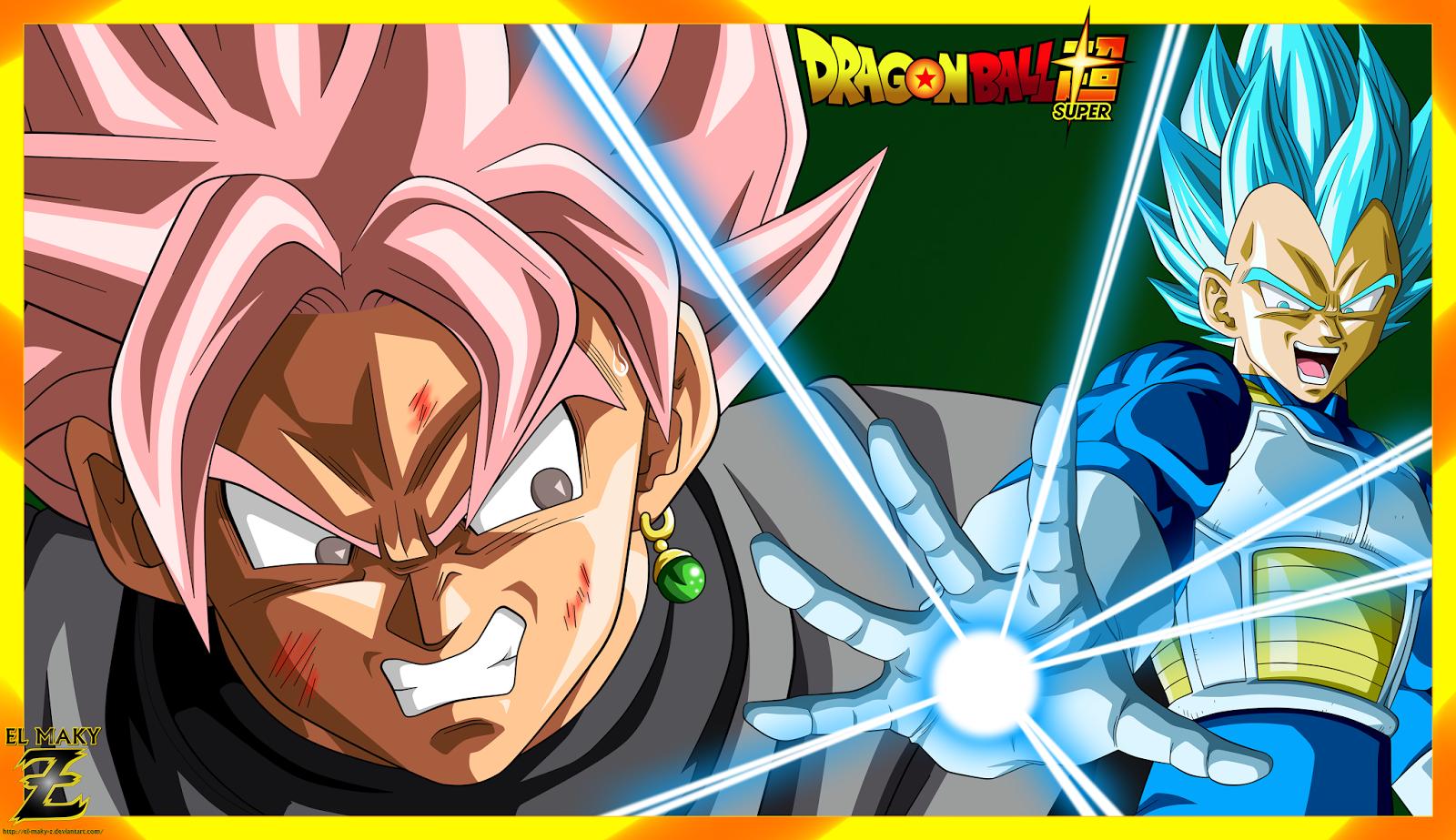 Maky Z Blog Wallpaper Vegeta Ssjb Vs Black Goku Ssjr Dragon