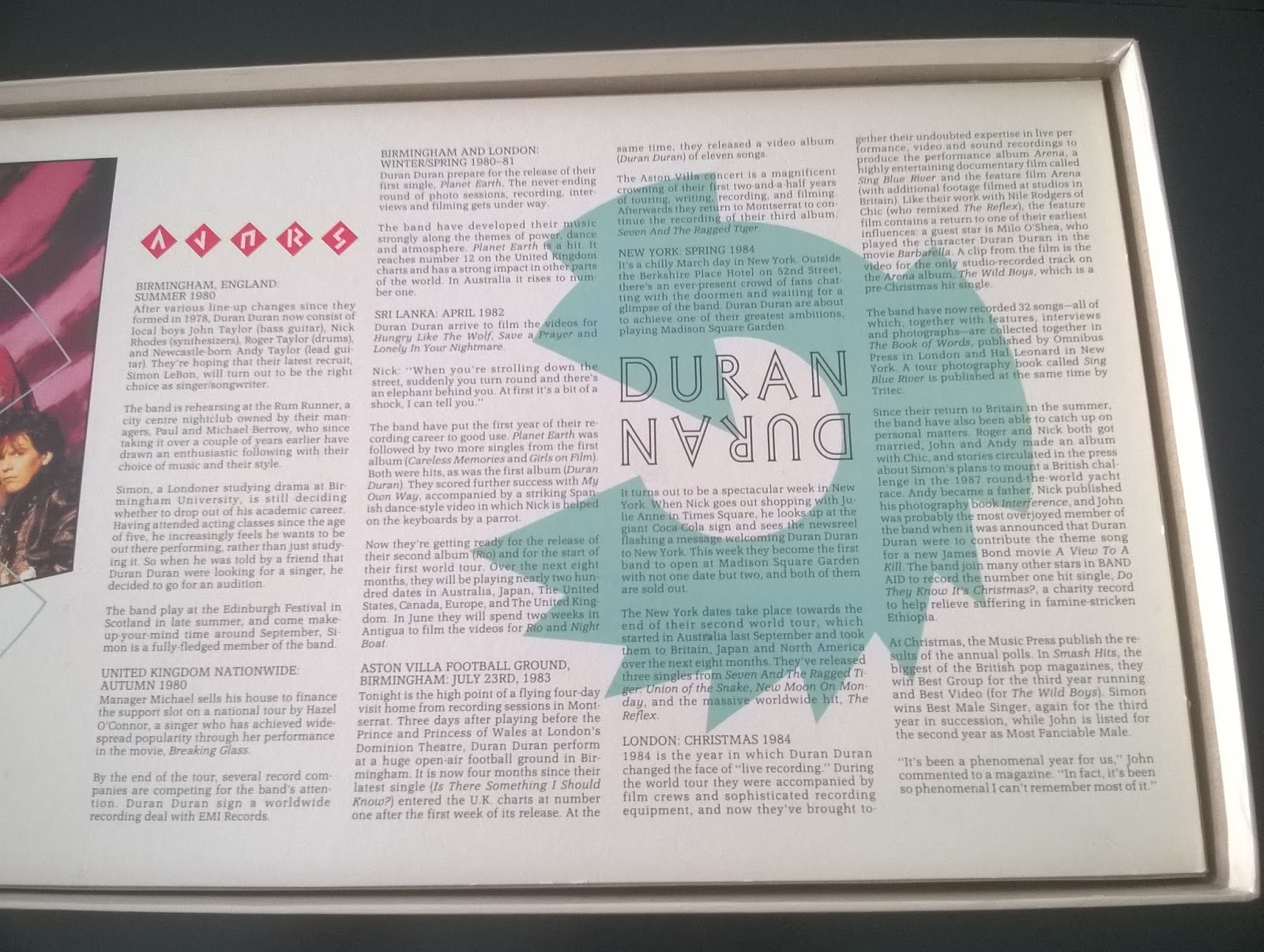 Duran Duran Game: Into The Arena | A Board Game A Day