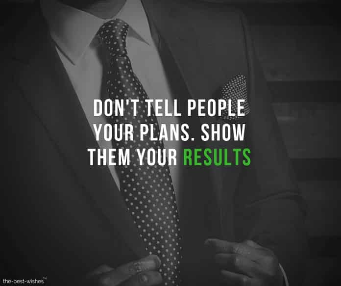 Motivational Image with Quote on Having a Plan and results.