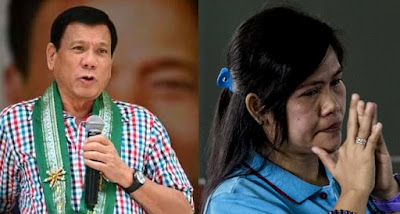 Philippine President Rodrigo Duterte and Mary Jane Veloso