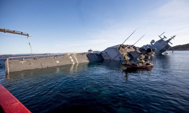Βυθίστηκε νορβηγική φρεγάτα που συγκρούστηκε με ελληνικό τάνκερ (βίντεο)