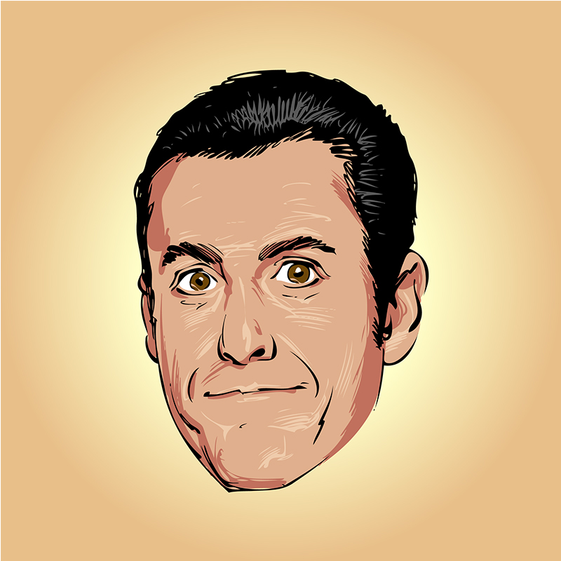 Adam Sandler vector caricature portrait