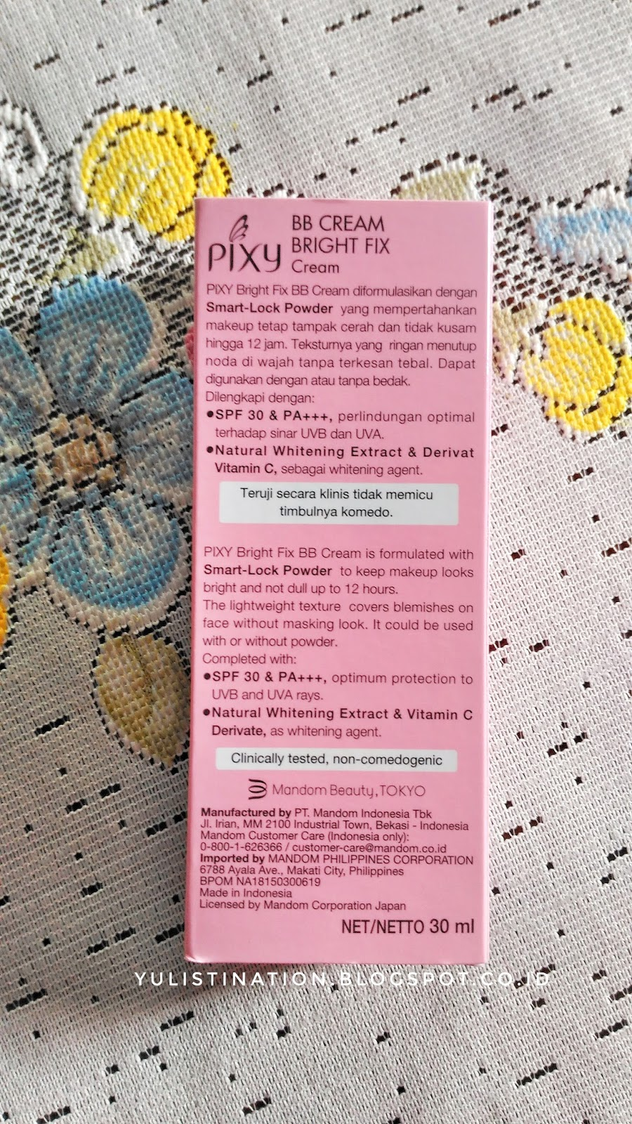 REVIEW Pixy Bright Fix BB Cream SPF 30 PA CREAM