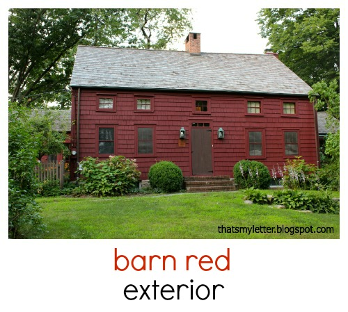 Primitive Farmhouse Barn Red Exterior