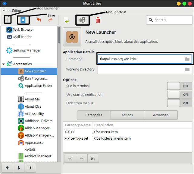 How To Create A Shortcut In The Xubuntu Panel Menu!
