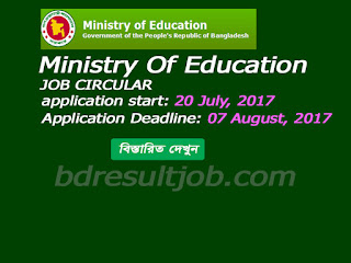 Ministry Of Education Job Circular