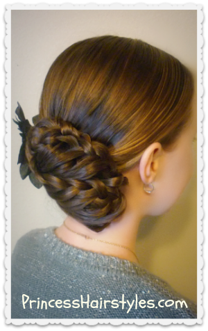 Prom hairstyle, triple braid updo video tutorial