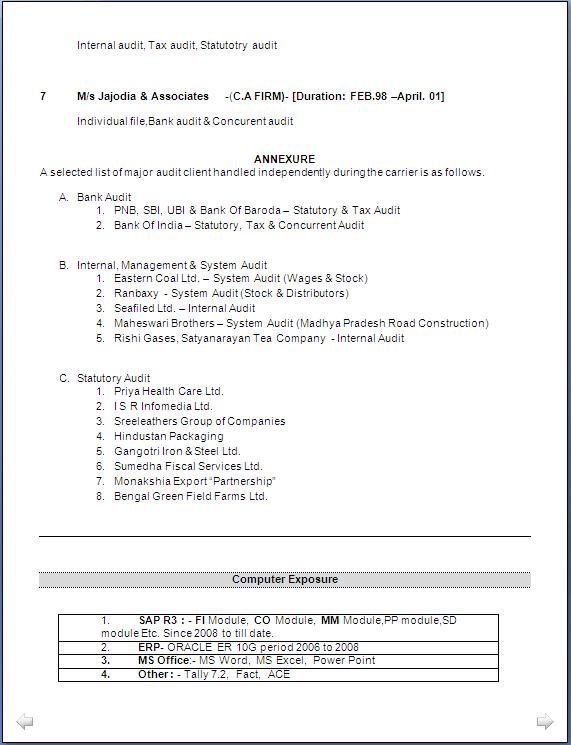 resume blog co  resume sample  ca inter  u0026 master of