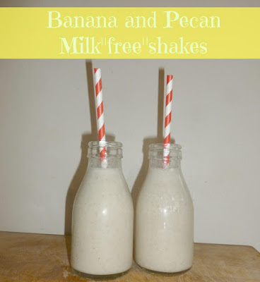 Banana and pecan milk free shakes