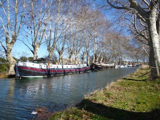 Barcazas en el Canal du Midi
