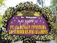 Papan Bunga Ucapan Duka Cita Desain Mewah Elegan Full Bunga Segar by Agustina Florist Surabaya