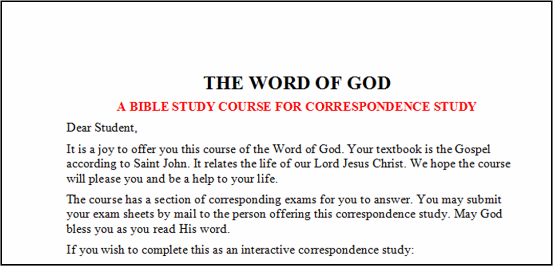 Iowa Seed Sowers: Bible Study: The Gospel of John - The Word of God