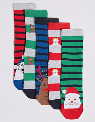marks and spencer 5 pairs of novelty socks